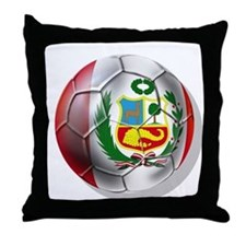 Peru Futbol Throw Pillow