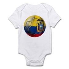 Ecuador Soccer Ball Infant Bodysuit