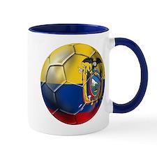 Ecuador Soccer Ball Mug