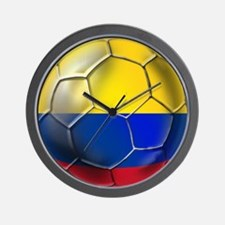 Colombian Soccer Futbol Wall Clock
