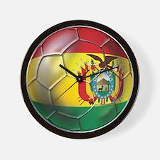 Bolivia Futbol Wall Clock