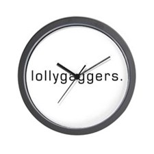Lollygaggers Wall Clock