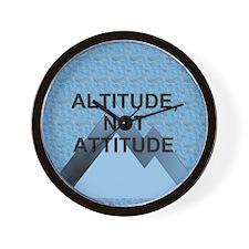 Altitude Not Attitude Wall Clock