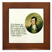 Robbie Burns Quote Framed Tile