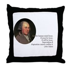 John Adams Quote Throw Pillow