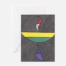 Cool Rainbow chalice Greeting Card