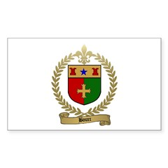 BOURC Family Crest Rectangle Decal