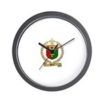 BOURC Family Crest Wall Clock