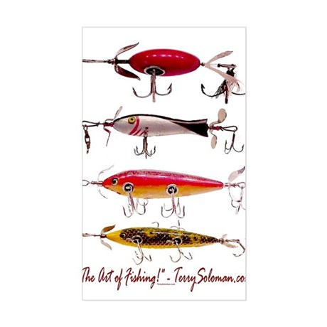 Fish, Fishing, Lure Rectangle Sticker