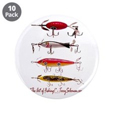 """Fish, Fishing, Lure 3.5"""" Button (10 pack)"""