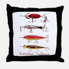 Fish, Fishing, Lure Throw Pillow