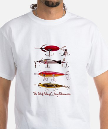 Fish, Fishing, Lure White T-Shirt