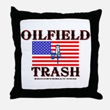 American Oilfield Trash Throw Pillow