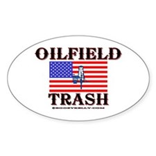 American Oilfield Trash Oval Bumper Stickers