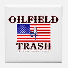 American Oilfield Trash Tile Coaster
