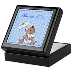 African American Baby Boy Keepsake Box
