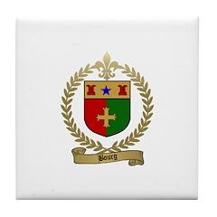 BOURG Family Crest Tile Coaster