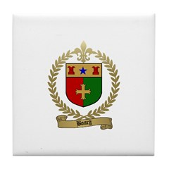 BOURG Family Crest Tile Coaster