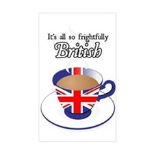 All Frightfully British Rectangle Decal