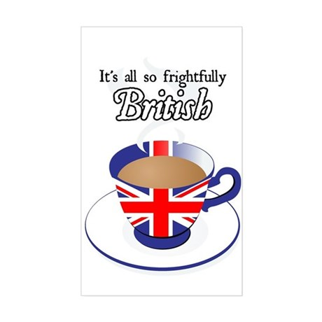 All Frightfully British Rectangle Sticker