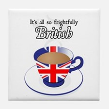 All Frightfully British Tile Coaster