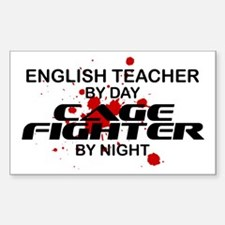English Tchr Cage Fighter by Night Decal