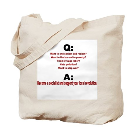 Socialist questions and answe Tote Bag