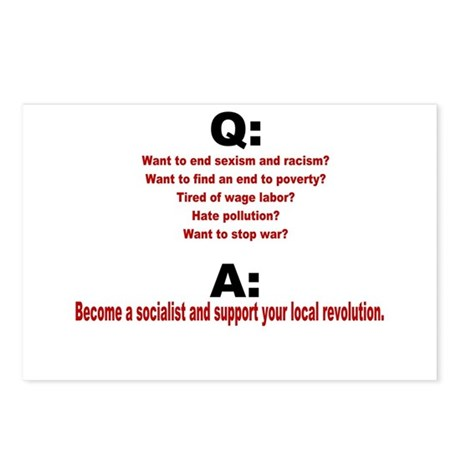 Socialist questions and answe Postcards (Package o