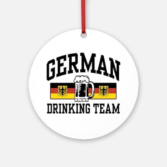 German Drinking Team Ornament (Round)