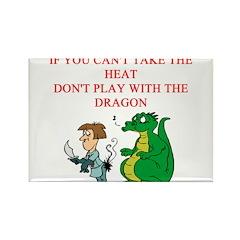 dragon joke Rectangle Magnet (10 pack)