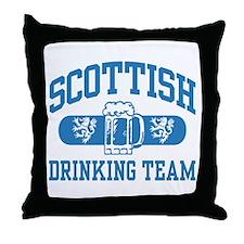 Scottish Drinking Team Throw Pillow