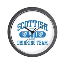 Scottish Drinking Team Wall Clock