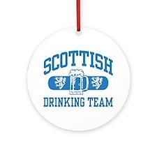 Scottish Drinking Team Ornament (Round)