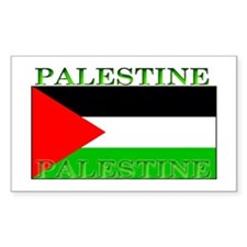 Palestine Palestinian Flag Rectangle Decal