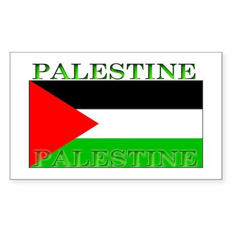 Palestine Palestinian Flag Rectangle Sticker