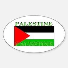 Palestine Palestinian Flag Oval Decal