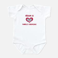 Allison Is Daddy's Valentine Infant Bodysuit