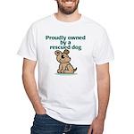 Proudly Owned (Dog) White T-Shirt