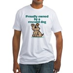 Proudly Owned (Dog) Fitted T-Shirt
