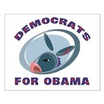 Democrat Donkey Small Poster