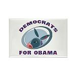 Democrat Donkey Rectangle Magnet (10 pack)