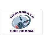 Democrat Donkey Rectangle Sticker 10 pk)