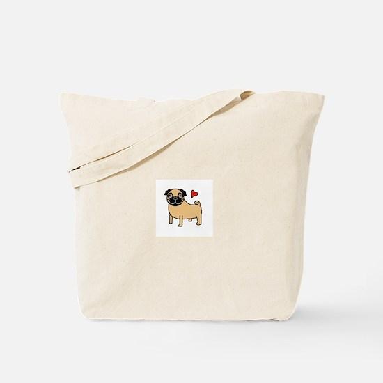 Fawn Pug Love Tote Bag
