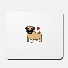 Fawn Pug Love Mousepad