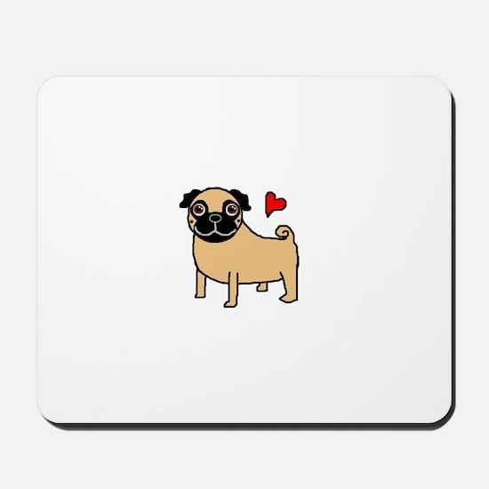 Fawn Pug Love Mousepad