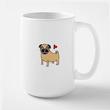 Fawn Pug Love Large Mug