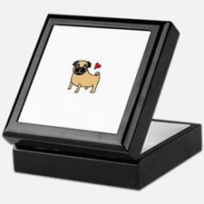 Fawn Pug Love Keepsake Box