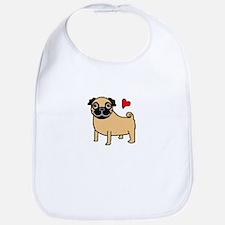 Fawn Pug Love Bib