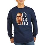 Obama ! Long Sleeve Dark T-Shirt