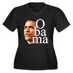 Obama ! Women's Plus Size V-Neck Dark T-Shirt